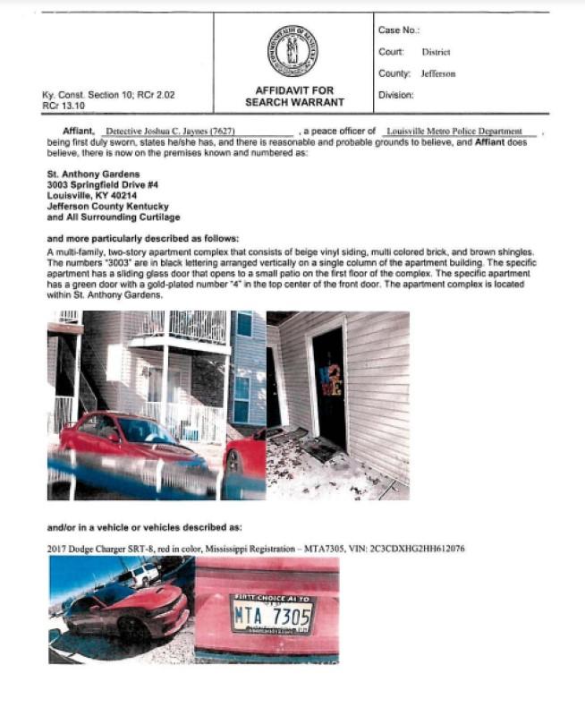 Breonna Taylor Search Warrants PDF